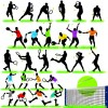 Different Sport Silhouettes vector 03