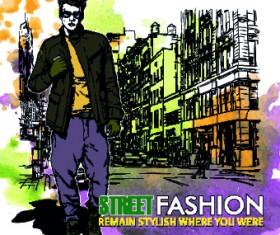 Street fashion design elements vector 01