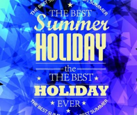 Summer Holidays with Abstract background vector 04