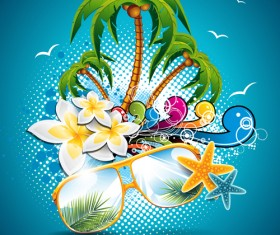 Summer Night Posters design vector 01