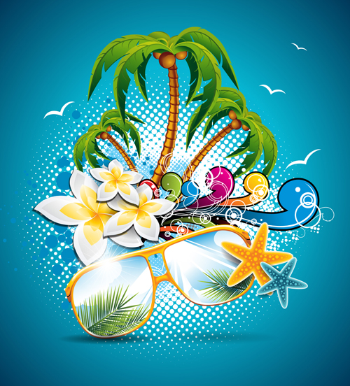 summer night posters design vector 01 free download