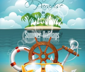 Summer Night Posters design vector 03