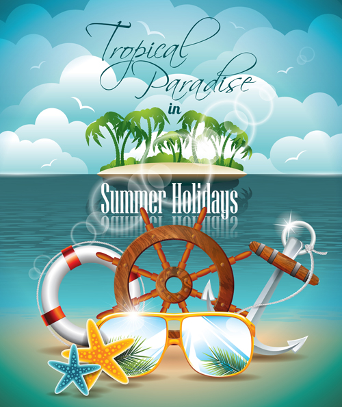 Summer Night Posters design vector 03 - Vector Cover free download