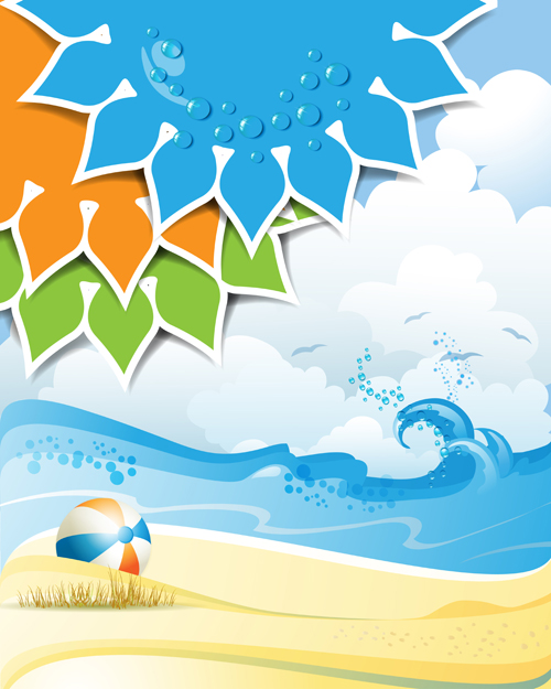 Summer Sunny Vector Backgrounds 01 Vector Background