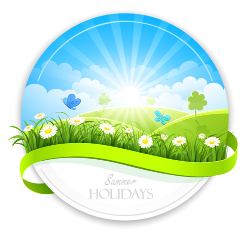 Sunlight with Nature Banners vector 03
