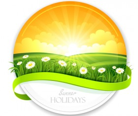 Sunlight with Nature Banners vector 04