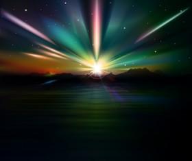 Sunset Landscapes background vector 02