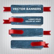 Link toTextured banners design vector 01