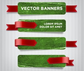 Textured banners design vector 02