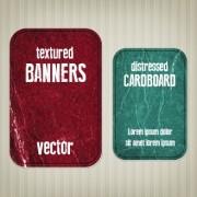 Textured banners design vector 05