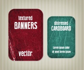 Textured banners design vector 05