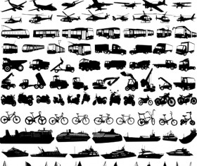 Transportation Icons vector set 01