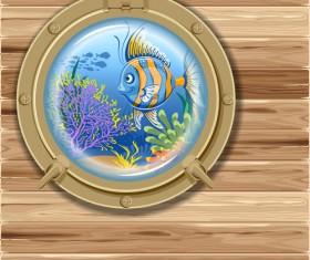 Beautiful Underwater World vector 02