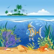 Link toBeautiful underwater world vector 03