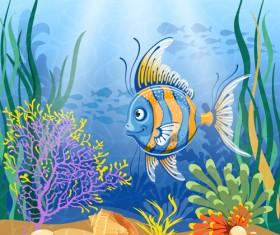 Beautiful Underwater World vector 04