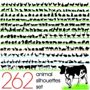 Link toSilhouettes of animals design vector 01