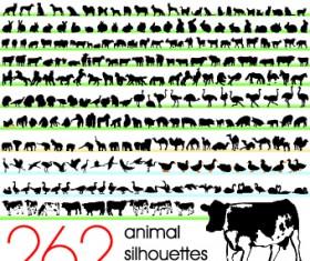 Silhouettes of animals design vector 01