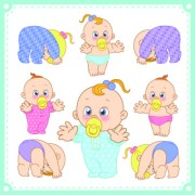 Link toLovely baby design vector 01