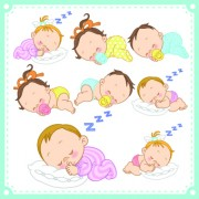 Link toLovely baby design vector 02