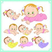 Link toLovely baby design vector 04