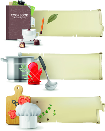 Special banners design elements vector 03