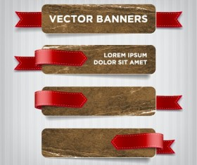 Textured banners design vector 03