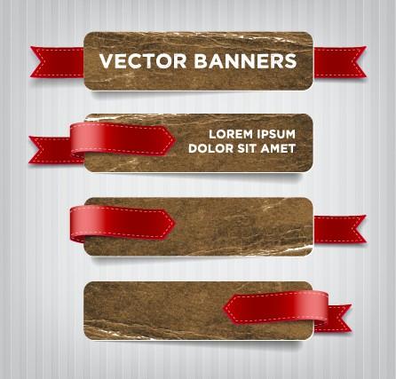 Textured banners design vector 03