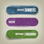 Link toTextured banners design vector 04