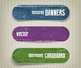 Textured banners design vector 04