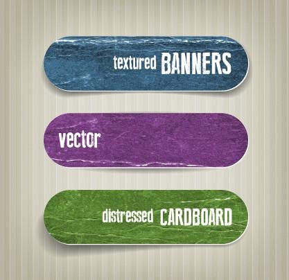 Textured banners design vector 04