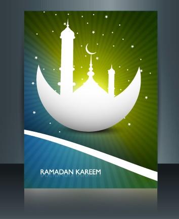 Ramadan Kareem flyer cover vector 01