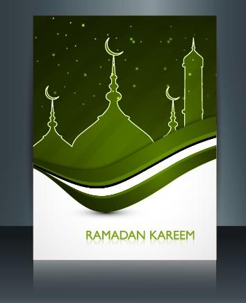 Ramadan Kareem flyer cover vector 04