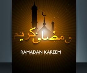 Ramadan Kareem flyer cover vector 05