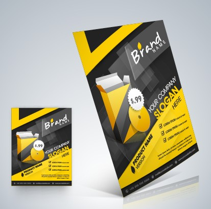 Stylish Business Flyer Template Design 02 Free Download