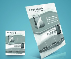 Stylish business flyer template design 03