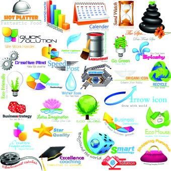 Shiny business logos design vector 01 - Vector Business, Vector ...