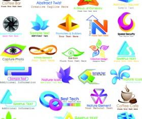 Shiny business logos design vector 02