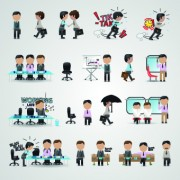 Link toBusiness people icons vector 03