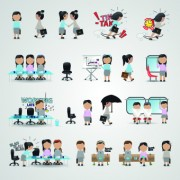Link toBusiness people icons vector 04