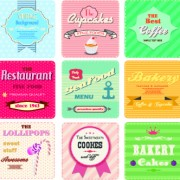 Link toDifferent retro food card vector 02