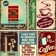 Link toDifferent retro food card vector 04