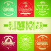 Different Retro food card vector 05