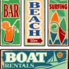 Different Retro food card vector 07