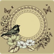 Link toHand drawn floral art background 01