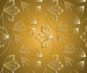 luxurious Floral pattern vector set 01