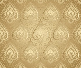 luxurious Floral pattern vector set 02