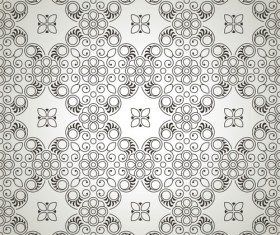 luxurious Floral pattern vector set 03