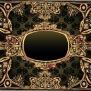 Link toLuxurious gold frame vector set 02
