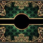 Link toLuxurious gold frame vector set 03