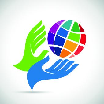 Hands logo design vector 03